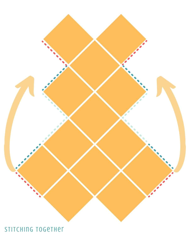 granny square bag diagram