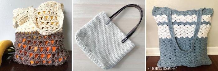 3 crochet bags