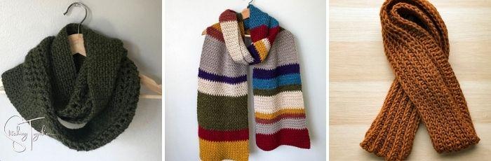 men's crochet scarves