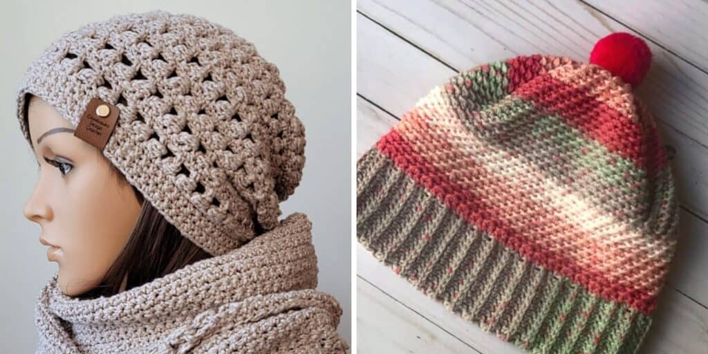 crochet hats made with thin yarn