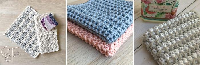 3 additional crochet dishcloths