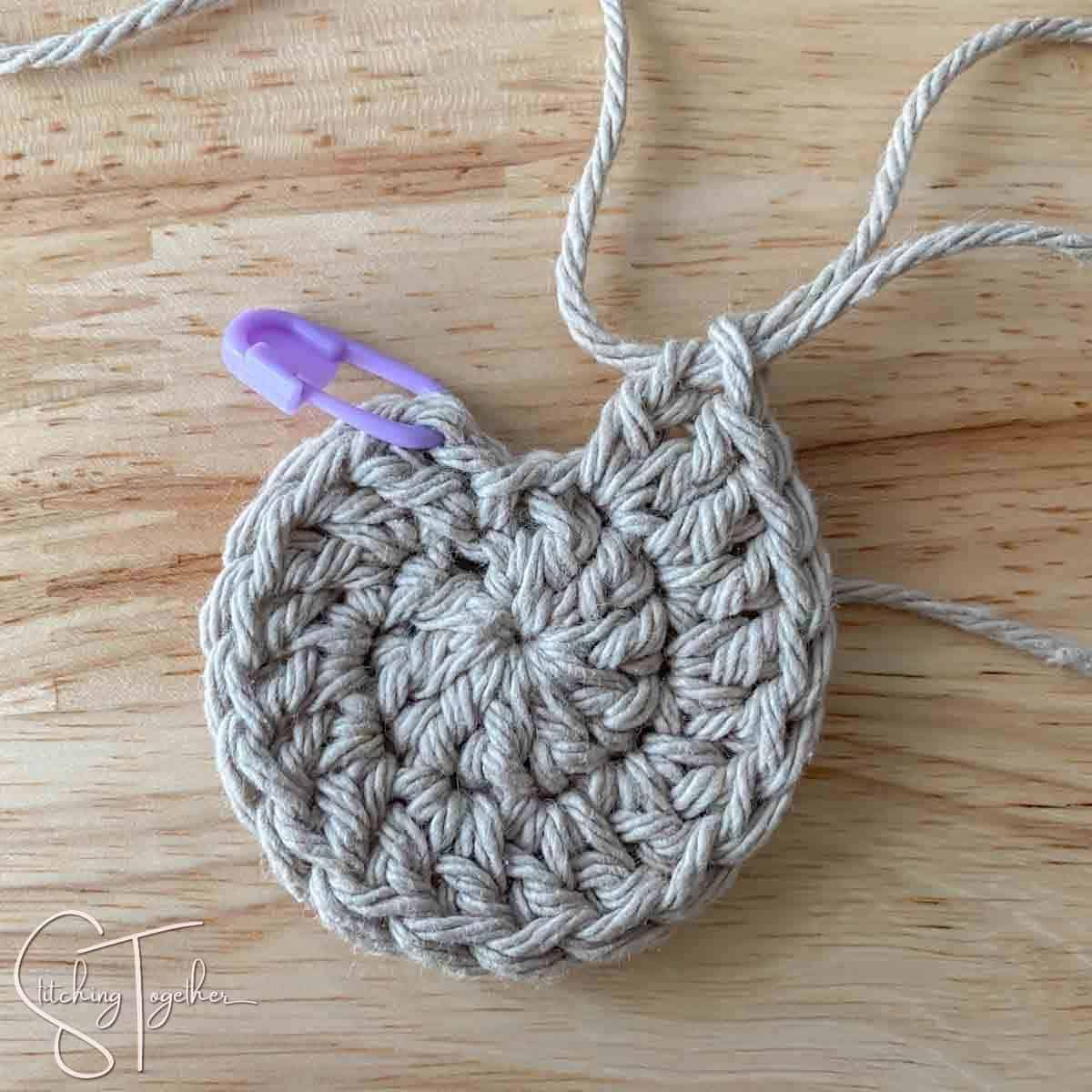 round 3 of crochet coaster not joined yet