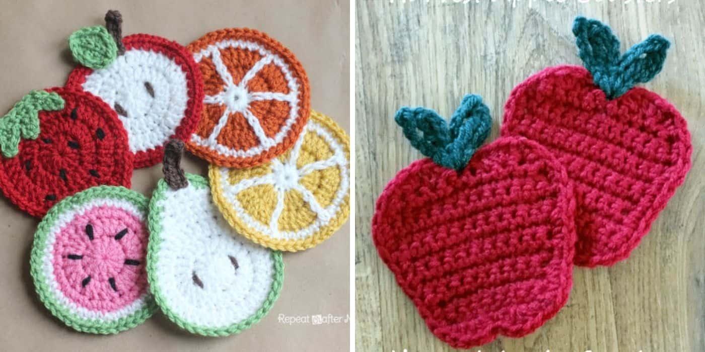 fruit coasters crocheted