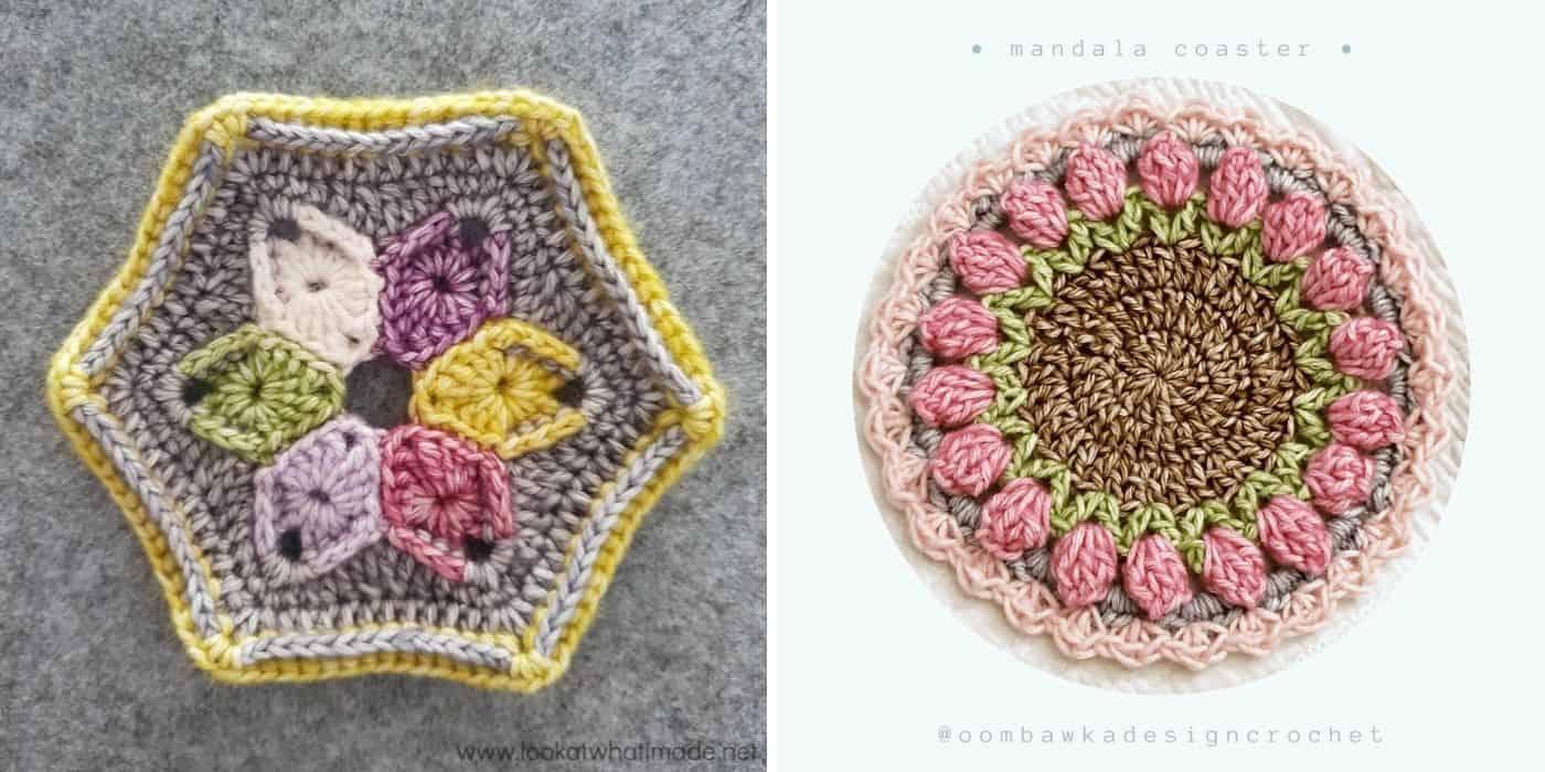 colorful crochet coasters