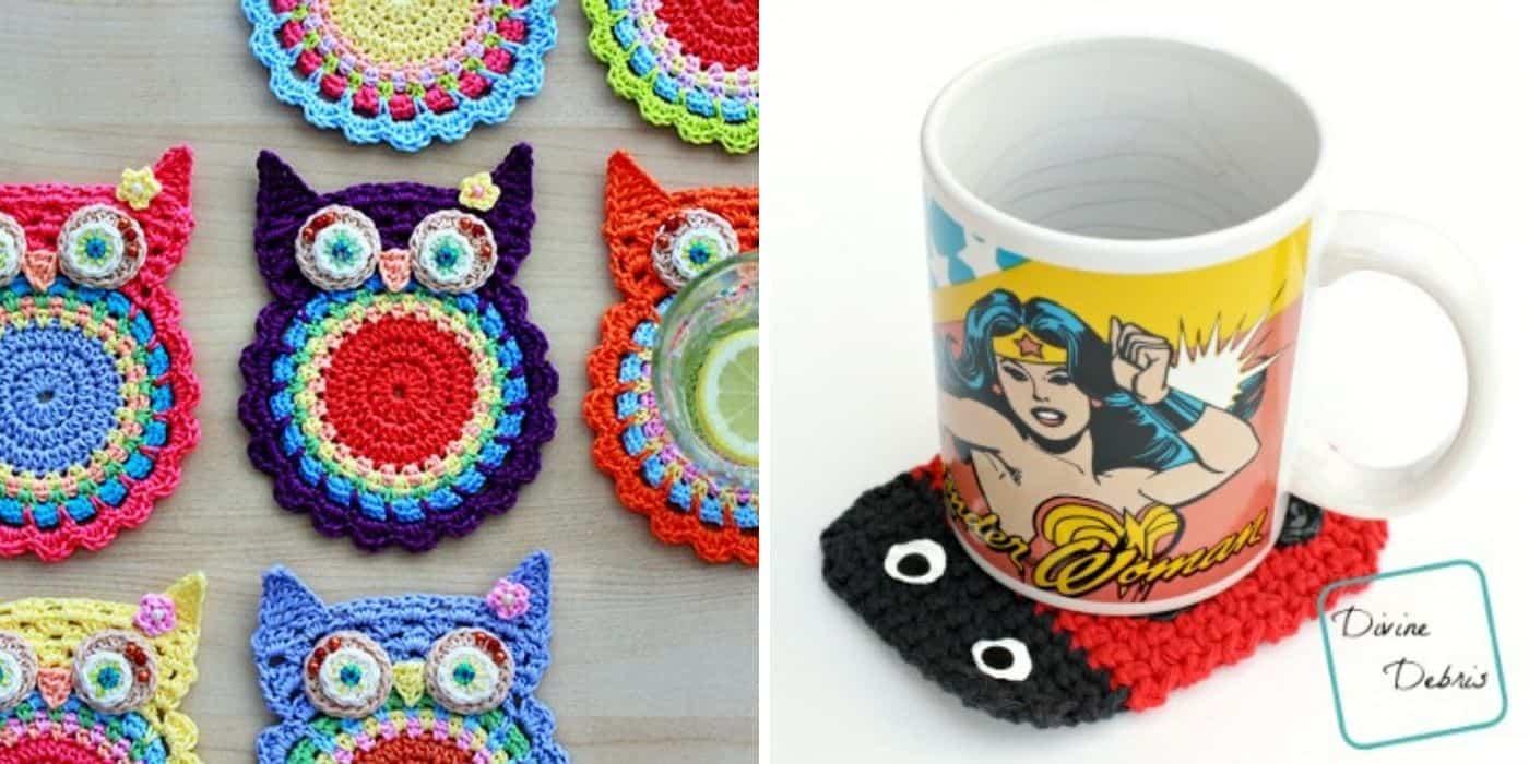 owl coaster and lady bug coaster